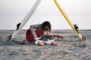 guitar by the beach