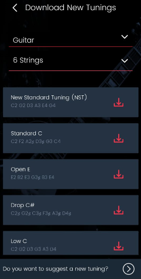 Roadie Tuner App Update: New Tunings Available to Download