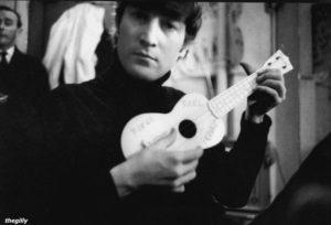 John Lennon with Ukulele